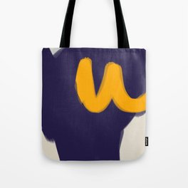 blue yellow white minimal abstract art Tote Bag
