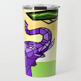 Stained Glass Elephant Travel Mug