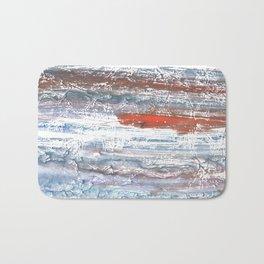 Orange blue stained watercolor pattern Bath Mat