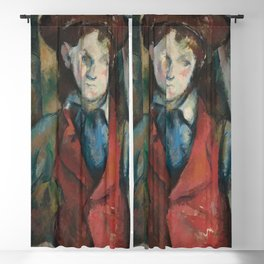 Boy in a Red Waistcoat Blackout Curtain