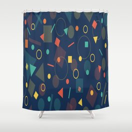 background geometrc Shower Curtain