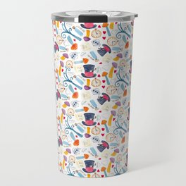 Alice in Wonderland - pattern Travel Mug