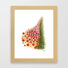 Paths of Color [Red, Orange and Green] Framed Art Print
