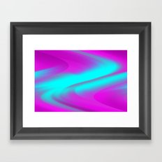 DREAM PATH (Purples, Fuchsias & Turquoises) Framed Art Print