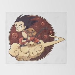 Son Goku & Kinto-Un Throw Blanket