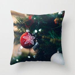 Christmas Photography - Christmas Tree Close-up V.5 Throw Pillow