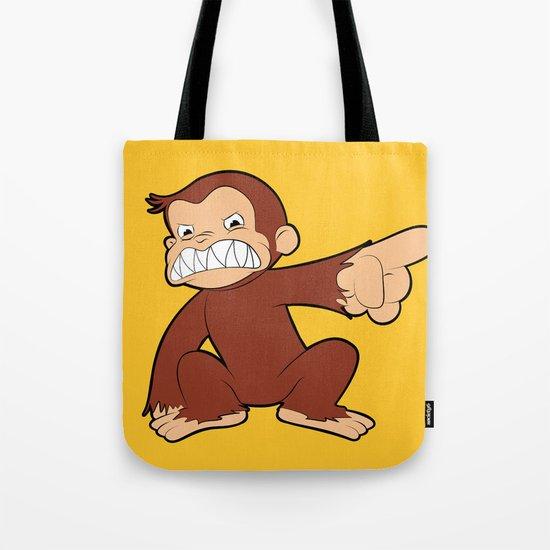 Furious George Funny Monkey Cartoon Animal Tote Bag