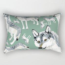 Totem Alberta Wolf Rectangular Pillow