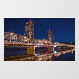 Stillwater MN Lift Bridge at Night Rug