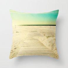 Sun and Sand Throw Pillow