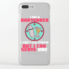 serve one Shots Party Alcohol trust me Bartender Beer Waiter Liquor Bistro Glass Tequila Clear iPhone Case