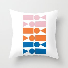 Retro Beach Vibes Geometry Throw Pillow