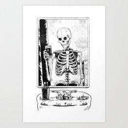 Skelfie Art Print