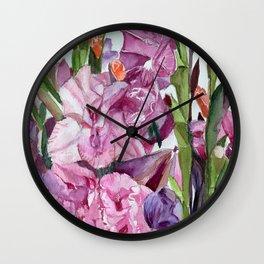 Gladiolus Forest  Wall Clock