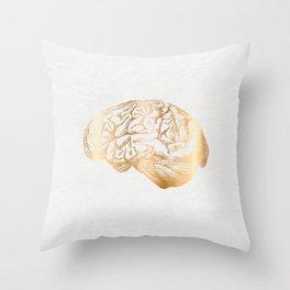 gold matter Throw Pillow