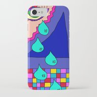 blankets iPhone & iPod Cases featuring Abstract 34 by Linda Tomei