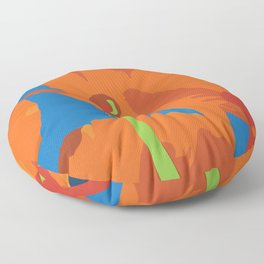California Poppes Floor Pillow