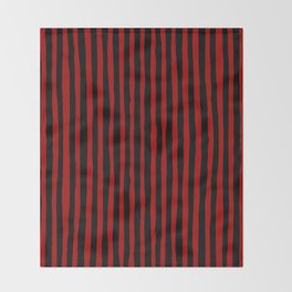 Black and Red Stripes Throw Blanket