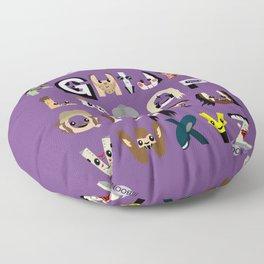 Horror Icon Alphabet Floor Pillow