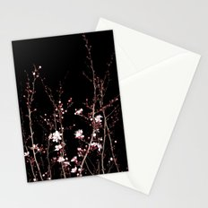 Winter night flowers Stationery Cards