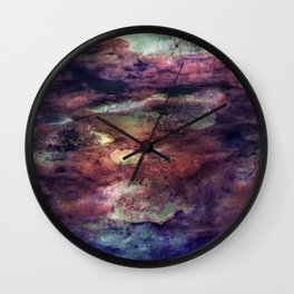 Space Algae Wall Clock