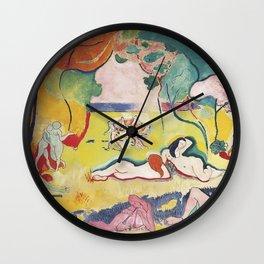 Matisse le Bonheur de Vivre (The Joy of Life) by Henri Matisse Wall Clock