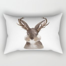 Wild Jackalope Rectangular Pillow