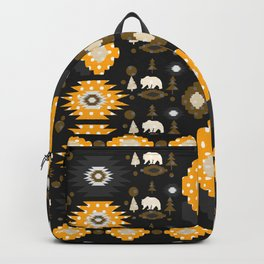 Ethnic winter pattern with little bears Backpack