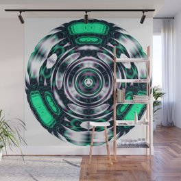 Jade Lens Abstract Wall Mural