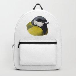Great tit bird (Parus major) sketch Backpack