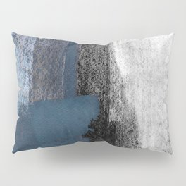 Blue and Black Abstract Painting Pillow Sham