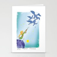 le petit prince Stationery Cards featuring Le Petit Prince by karicola