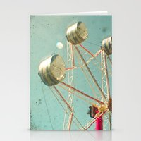 ferris wheel Stationery Cards featuring Ferris Wheel by Cassia Beck