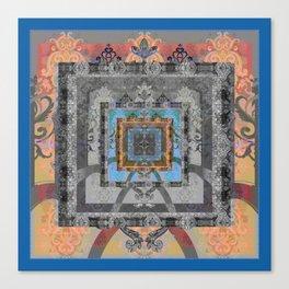 Trefoil Boujee Boho Sacred Geometric Portal Print Canvas Print