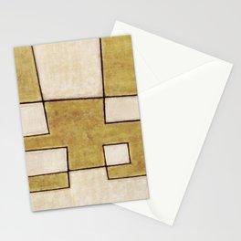 Protoglifo 06 'Mustard traverse cream' Stationery Cards