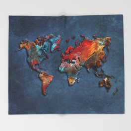 World Map 2020 Throw Blanket