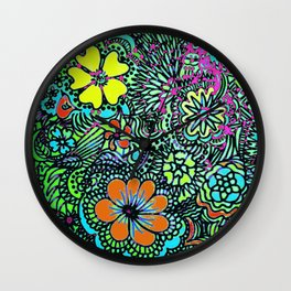 Because Color Brightens the World Wall Clock