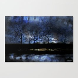 River of Darkness Canvas Print