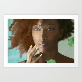 Colorism Split-Face Black Woman Art Print