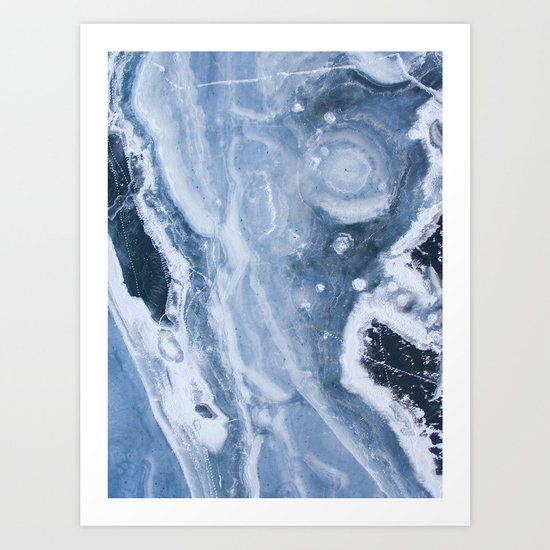 Earth blue Art Print