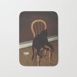 Black Cat on a Chair - Andrew L. von Wittkamp 1850-1875 Bath Mat