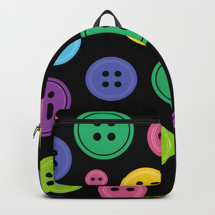 Colorful Rainbow Buttons Backpack by xooxoo