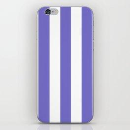 Violet-blue (Crayola) - solid color - white vertical lines pattern iPhone Skin