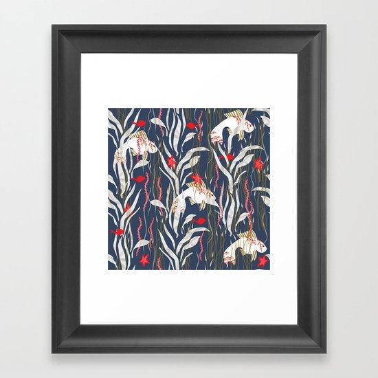 Seaweed Swim Framed Art Print