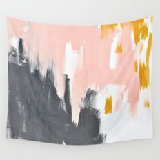 Gray and pink abstract Wall Tapestry