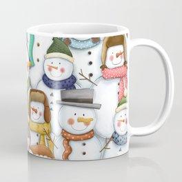 Happy Snowmen Pattern Coffee Mug
