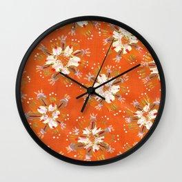 Blush Golden Autumn Wall Clock