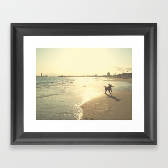 When she is the happiest Framed Art Print