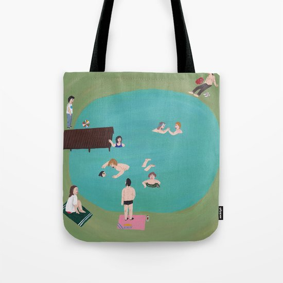 At the Quarry Pond Tote Bag