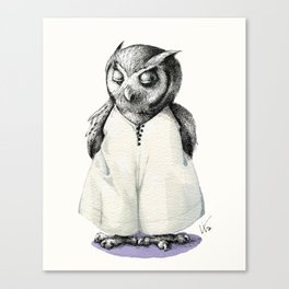Miss Owl in Jumpsuit Canvas Print